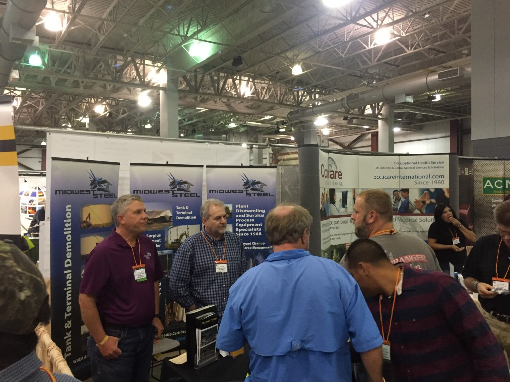 Midwest Steel Booth at the 2015 Associated Builders and Contractors, Southeast Texas Chapter, Outdoor Extravaganza & Member Trade Show.